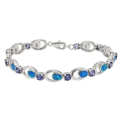 Blue Opal Amethyst Tennis