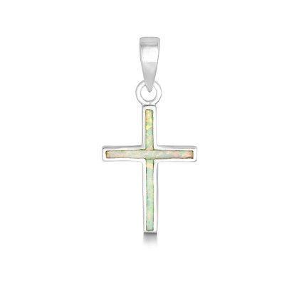 White Opal Cross