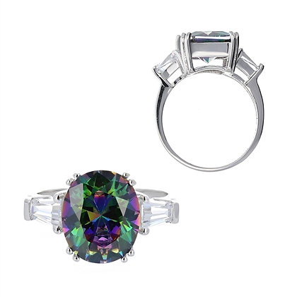 Mystic Topaz, Oval Cut Ring