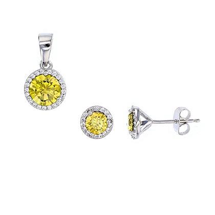 Yellow Sapphire Stud Set