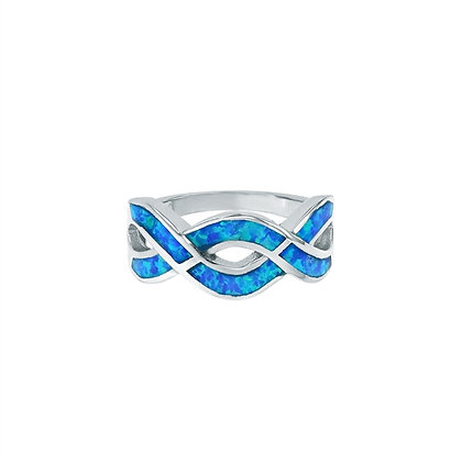 Blue Opal Ring, Infinity