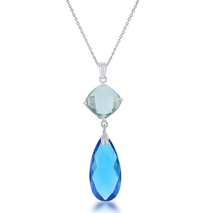 London Blue Topaz Tourmaline Necklace