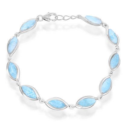 Marquis Larimar Bracelet