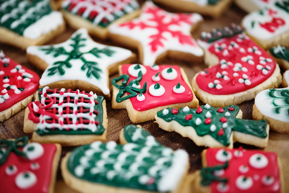 Image of Christmas cookies on platter