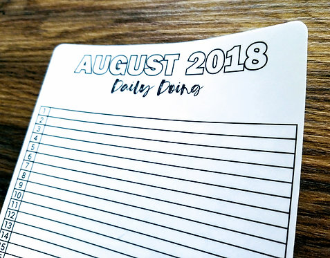 Digital Download - 2018 AUGUST DAILY DOING - Bullet Journal - Digital