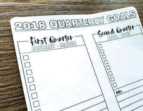 Sticker - 2018 QUARTERLY GOALS - Bullet Journal - Digital Design