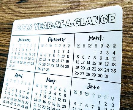Digital Download - YEAR-AT-A-GLANCE (Monday) - Bullet Journal - Digital Design