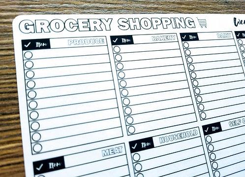 Sticker - GROCERY SHOPPING LIST - Bullet Journal - Digital Design
