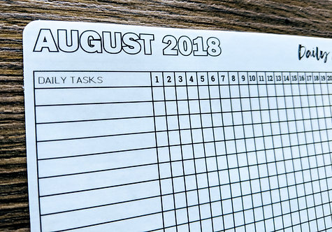 Sticker - 2018 AUGUST DAILY HABIT TRACKER - Bullet Journal - Digital
