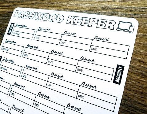 Digital Download - PASSWORD KEEPER - Bullet Journal - Digital Design