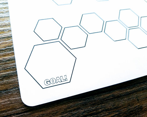 Sticker - HEXAGON WEIGHT-LOSS TRACKER - Bullet Journal - Digital Design