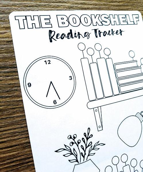 Sticker - READING BOOKSHELF - Bullet Journal - Digital Design