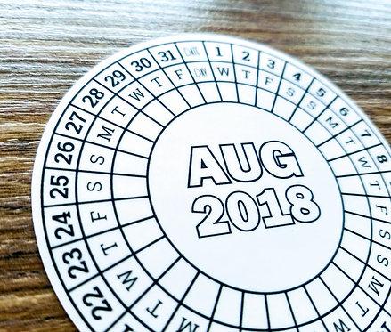 Sticker - 2018 AUGUST CIRCLE CALENDAR - Bullet Journal - Digital Design