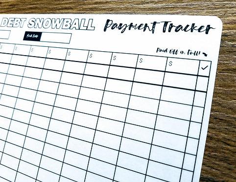 Sticker - 2018 DEBT SNOWBALL TRACKER - Bullet Journal - Digital Design