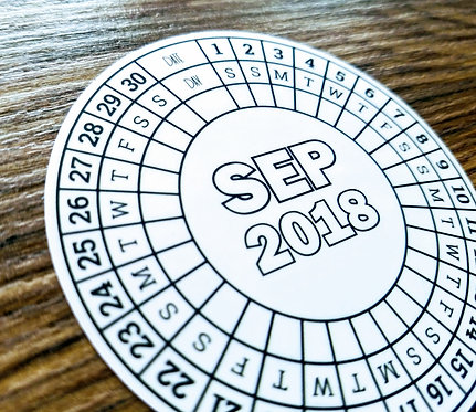 Sticker - 2018 SEPTEMBER CIRCLE CALENDAR - Bullet Journal - Digital Design