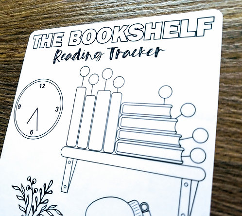 Digital Download - READING BOOKSHELF - Bullet Journal - Digital Design