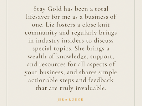 Stay Gold Collective Testimonials
