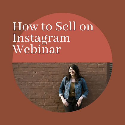 How to Sell on Instagram Webinar Replay