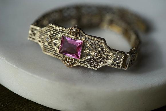 Vintage Pink Stone Bracelet