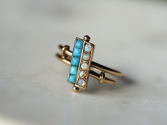 Opal & Turquoise Ring