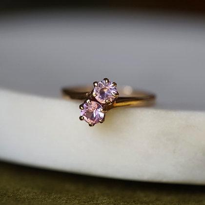 Vintage Pink Topaz Ring