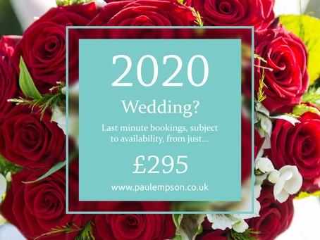 2020 Wedding Photography Offer