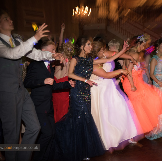 Dancing at the school prom
