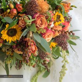 Autumnal Wedding flowers bridal bouquet