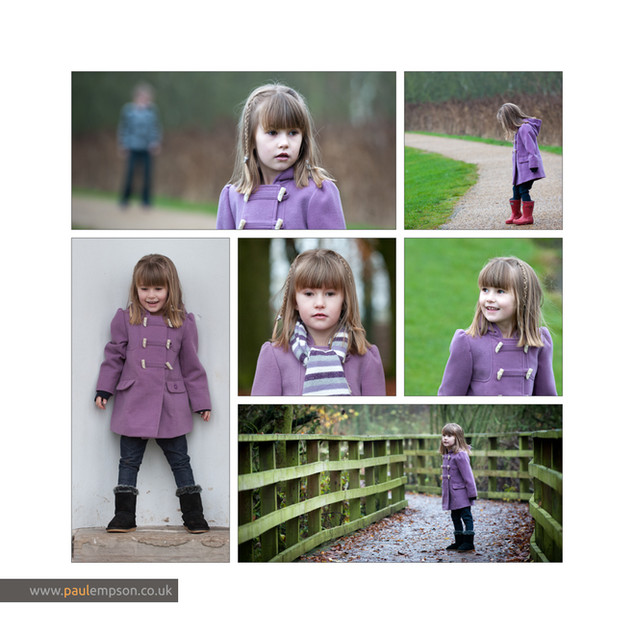 photo collage of little girl