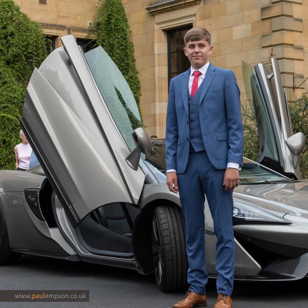 school prom & sports car