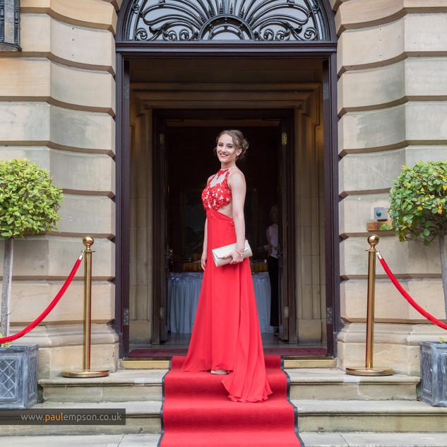 red carpet red dress school prom