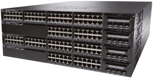 Cisco WS-C3650-48FS-S 3650 48 Port Full PoE 4x1G Uplink IP Base Switch