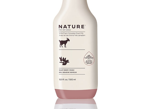 Nature Silky Body Wash – Real Shea Butter 16.9 oz