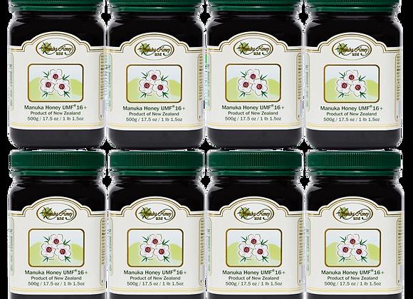 Manuka Honey UMF® 16+, UMF  8 Jars 17.5oz/500g