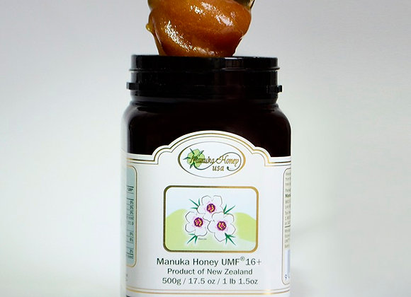 Manuka Honey UMF® 16+, UMF  17.5oz/500g- 1 JAR