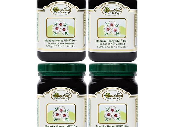 Manuka Honey UMF® 16+, UMF  2 Jars -17.5oz/500g