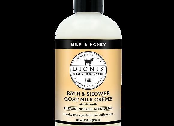 Bath & Shower Crème, 8.5 oz. Milk & Honey