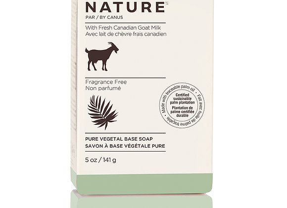 Nature Pure Vegetal Base Soap Bar – Fragrance Free -5 oz