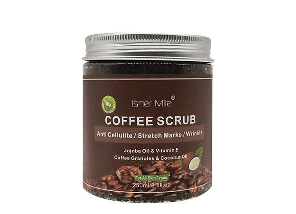 ISNER MILE 100% Natural Kaffee Exfoliating Coconut Oil Scrub With Sea Salt 250ml