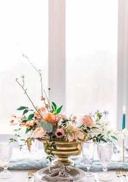 Pastel Floral Centerpiece