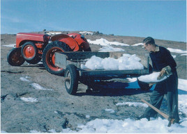 Collecting Ice for drinking water