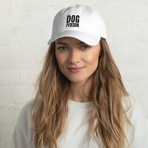 Dog Person Adjustable Hat.