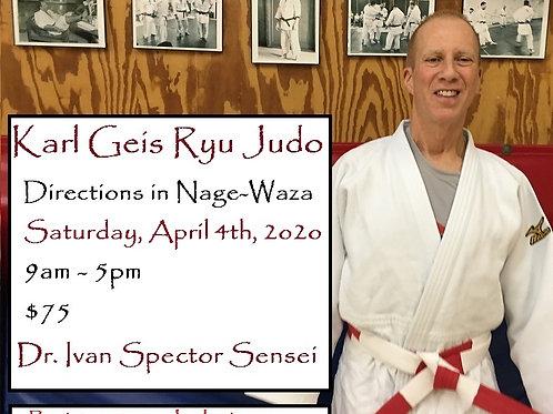 Karl Geis Ryu Judo Intensive