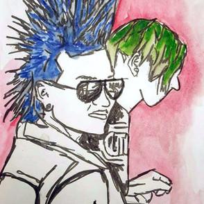 Sketchbook Study - Festival Punks