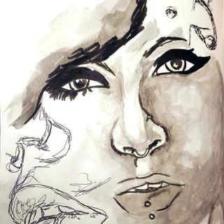 Sketchbook Study - Collaged Images