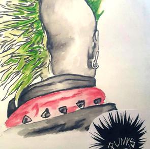 Sketchbook Study - Green Mohawk