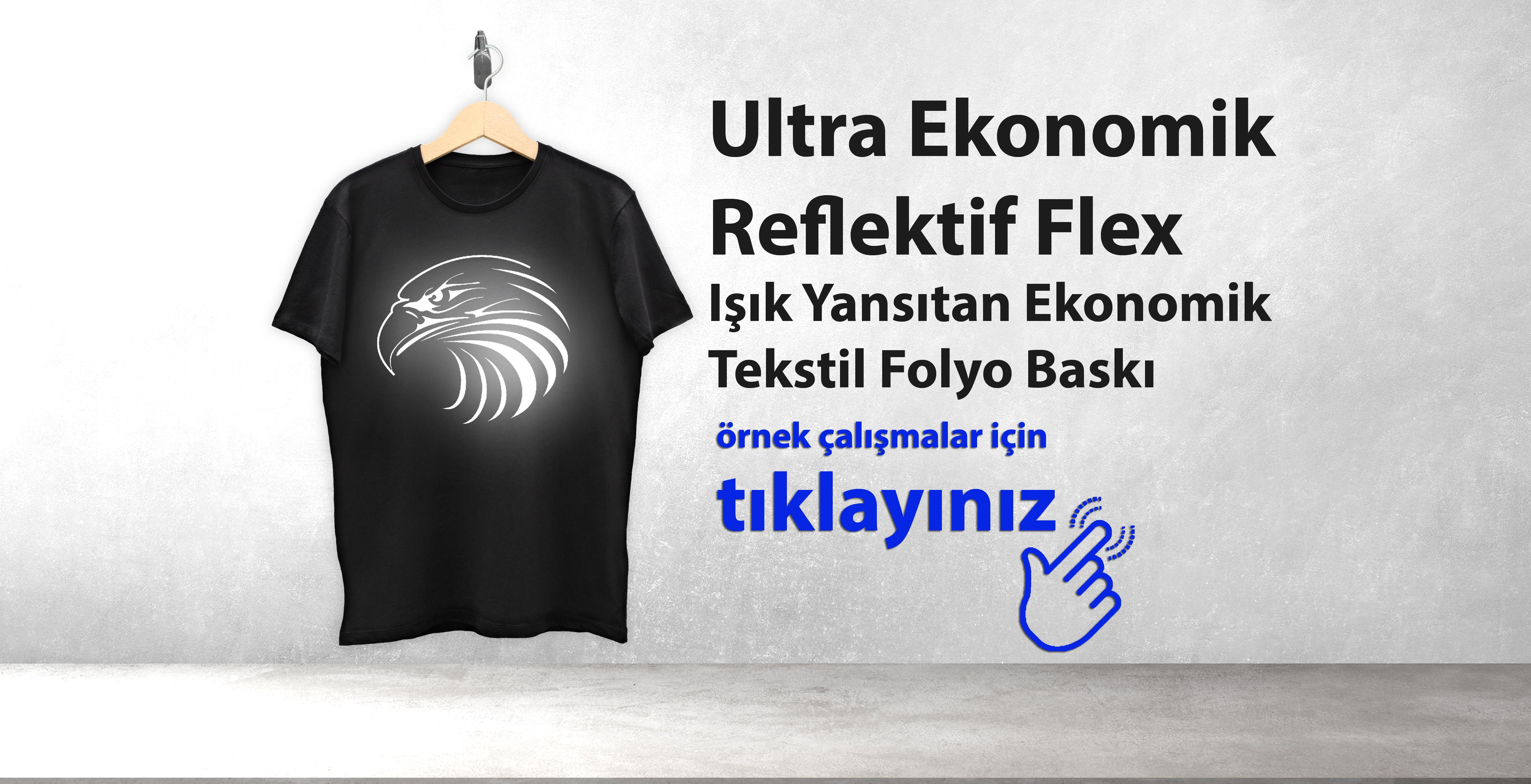 Ultra Ekonomik Reflektif Flex – Işık Yansıtan Ekonomik Tekstil Folyo Baskı