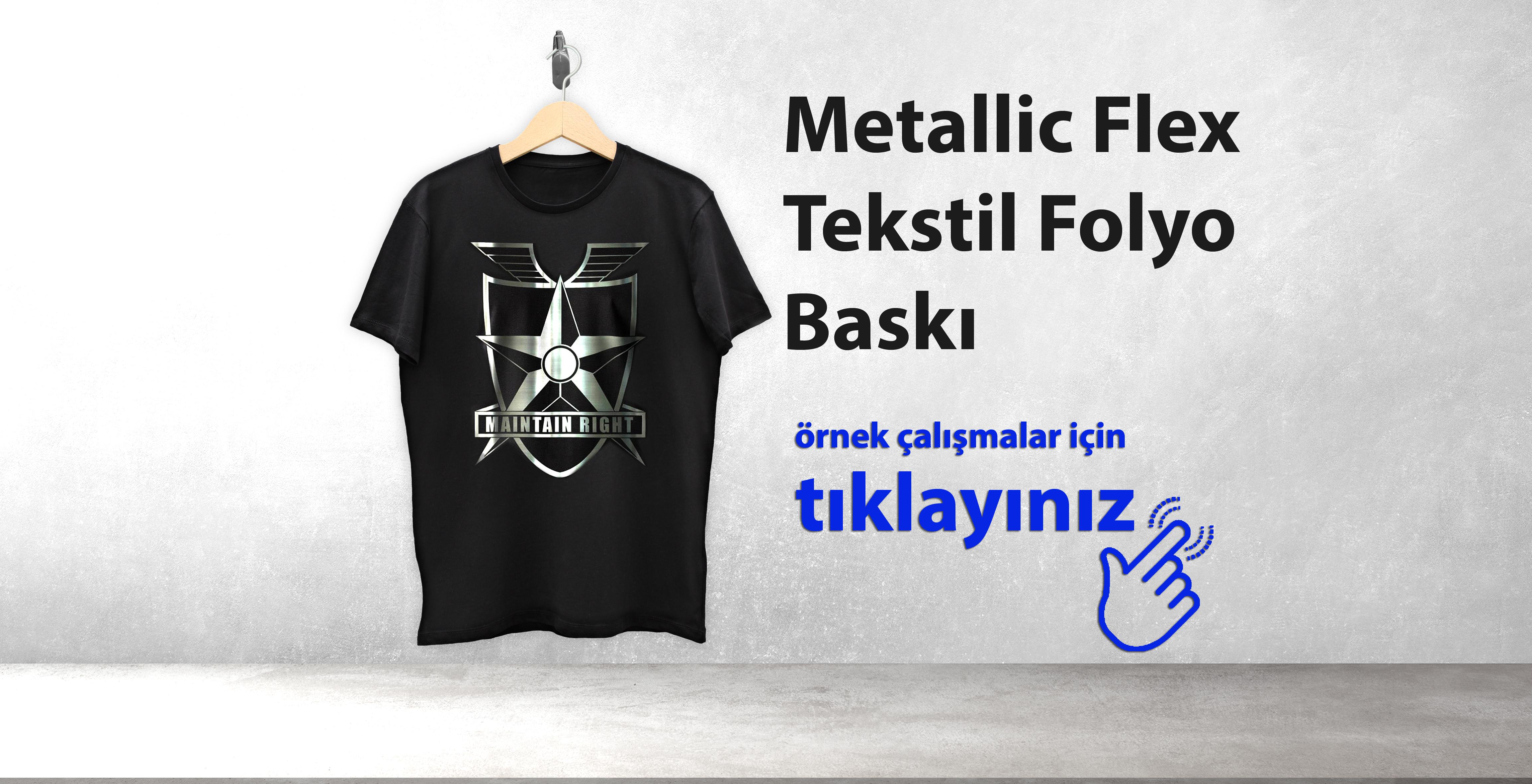 Metallic Flex Tekstil Folyo Baskı