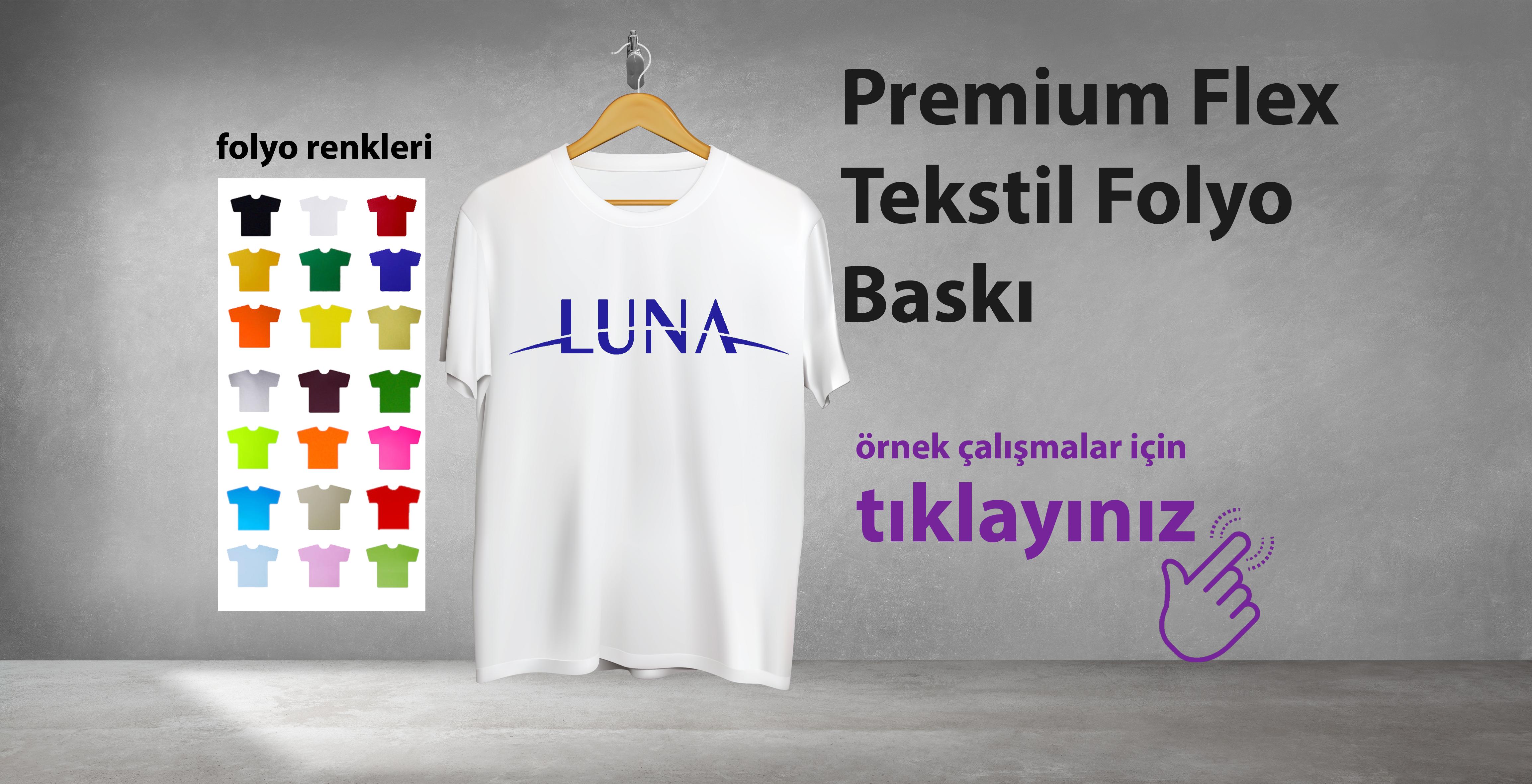 Premium Flex Tekstil Folyo Baskı