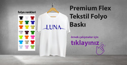 Premium Flex Tekstil Folyo Baskı